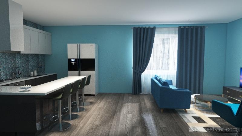 Sapphires apartment Interior Design Render