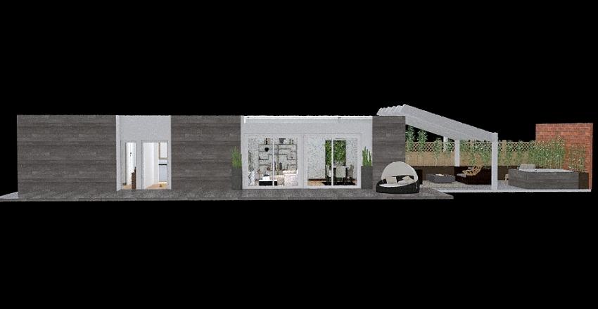 bilocale loft Interior Design Render