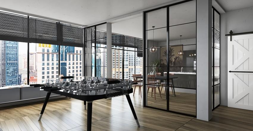 NY loft Interior Design Render