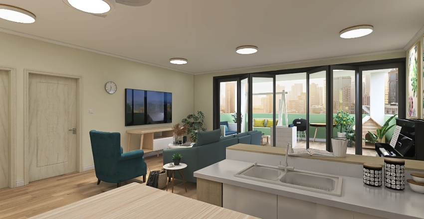 Apartment in the heights Interior Design Render
