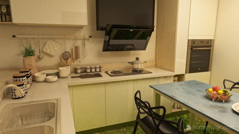 the small living Interior Design Render