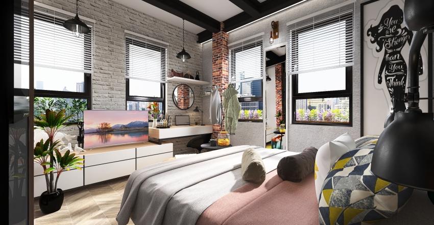 Women's Urban Crib Interior Design Render