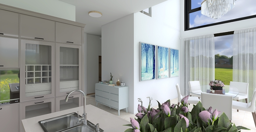 Attached House Project Interior Design Render
