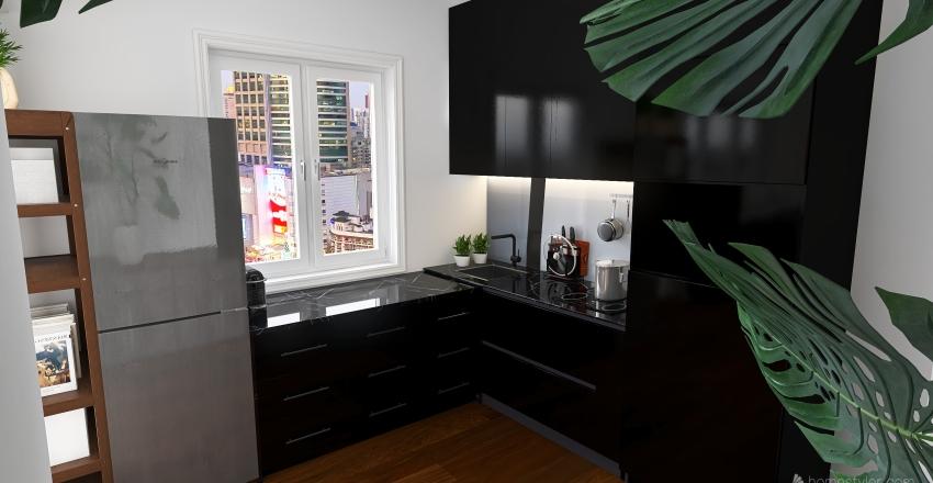 Small Flat Design Interior Design Render