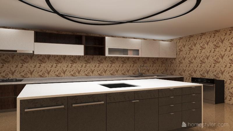 House With 2 bedroom  Interior Design Render
