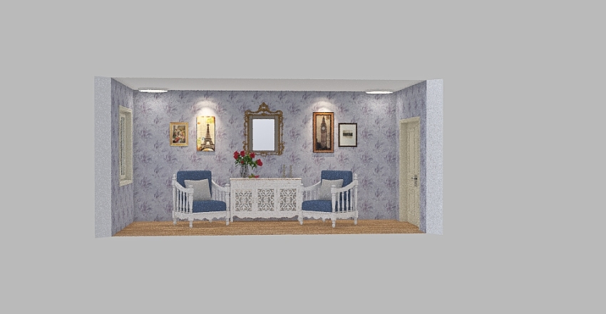 ESTILO VINTAGE Interior Design Render
