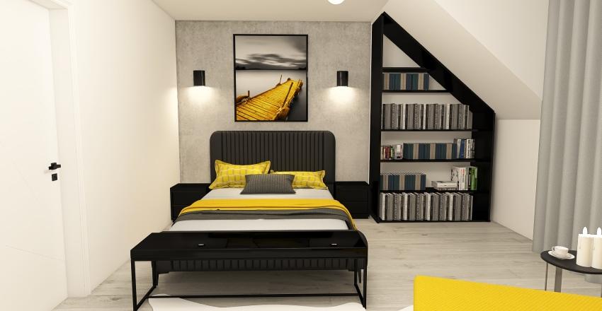 sypialnia Interior Design Render