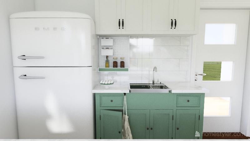 marble home Interior Design Render