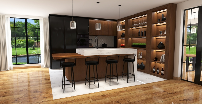 #7 Detached house  Interior Design Render