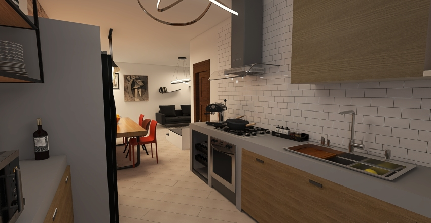 CUCINA DELMASTRO_02 Interior Design Render