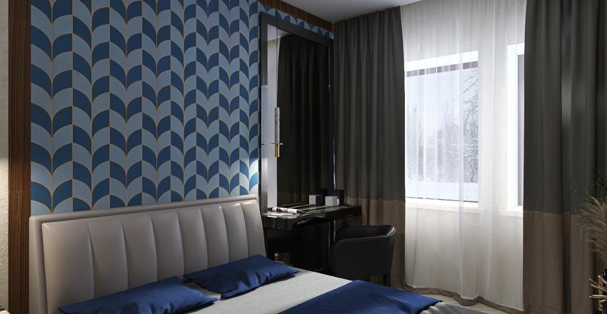 """Проект """"Двушка"""" (кухня-гостиная, спальня) Interior Design Render"""