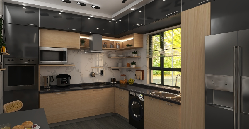Dining and kitche Interior Design Render