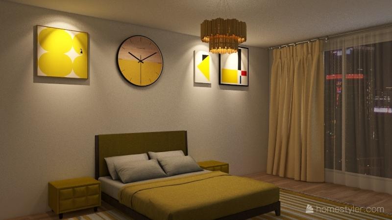 Colorful house Interior Design Render