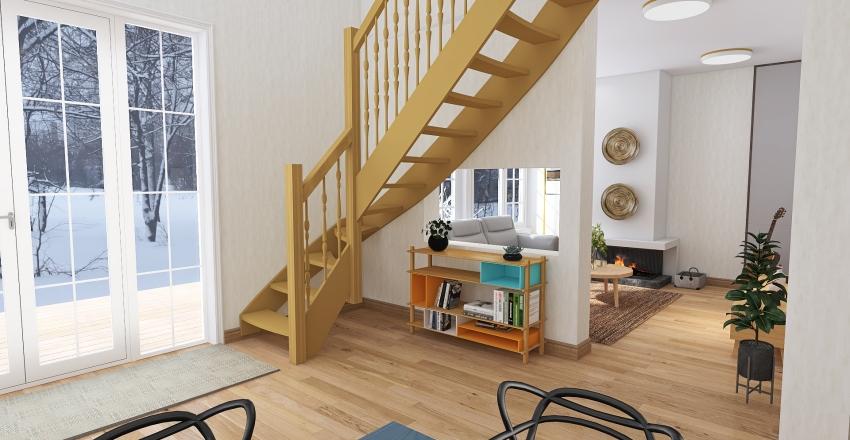 Cabin Interior Design Render
