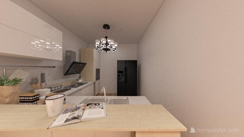 Pink Loft Interior Design Render