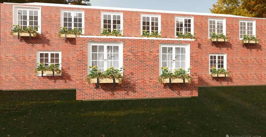 country farmhouse Interior Design Render