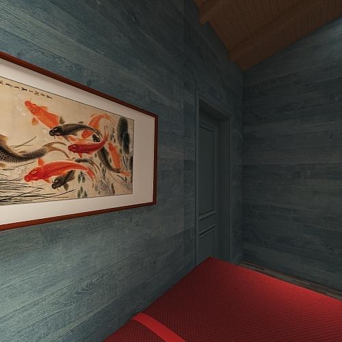 Quarto em Arles// Trabalho escolar Interior Design Render