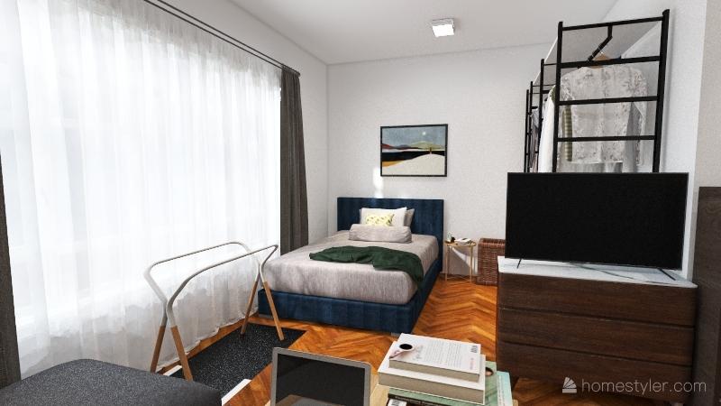 studio apartment A Interior Design Render