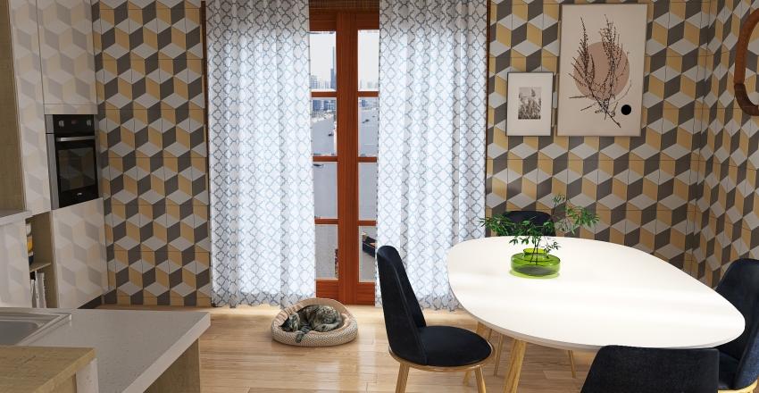 petite maison de campagne Interior Design Render