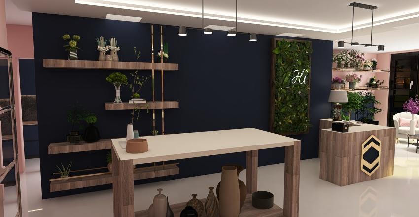 flower store Interior Design Render