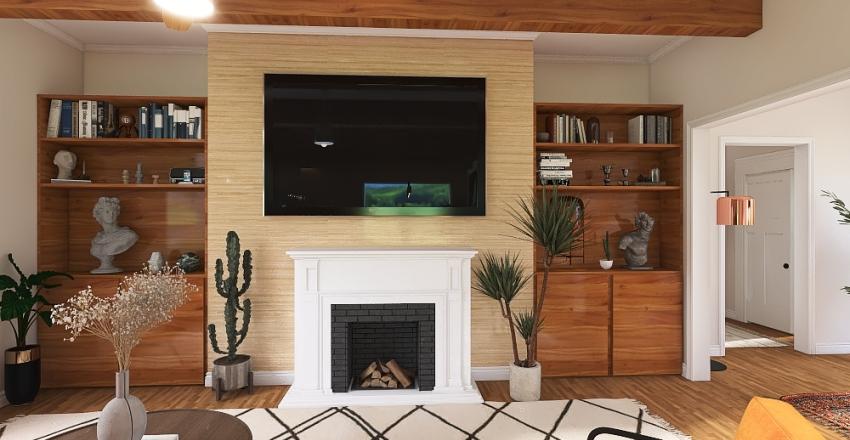 Modern Classic 3 Bedroom Interior Design Render
