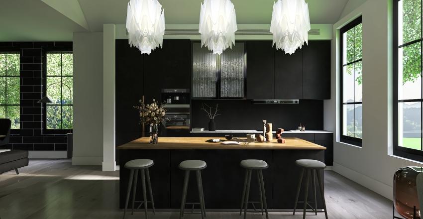 Noir moderne Interior Design Render