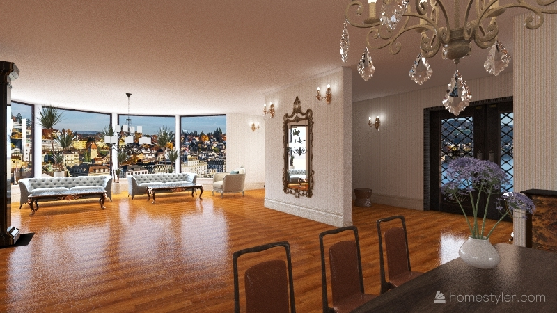 luxury villa Interior Design Render