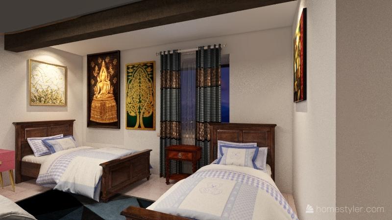 Girl's (Grade 12) Dorm Interior Design Render