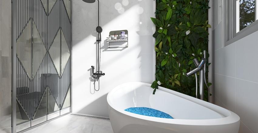 Old World Charm: Terrace House Interior Design Render