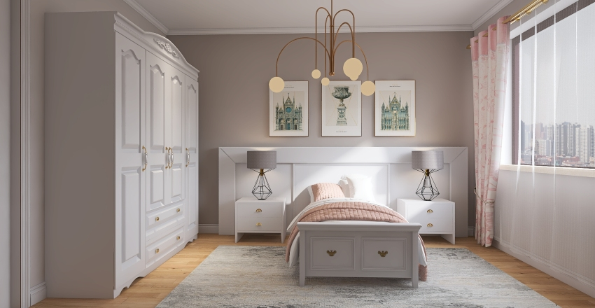 Zeynep Bedroom / H.ALG Interior Design Render
