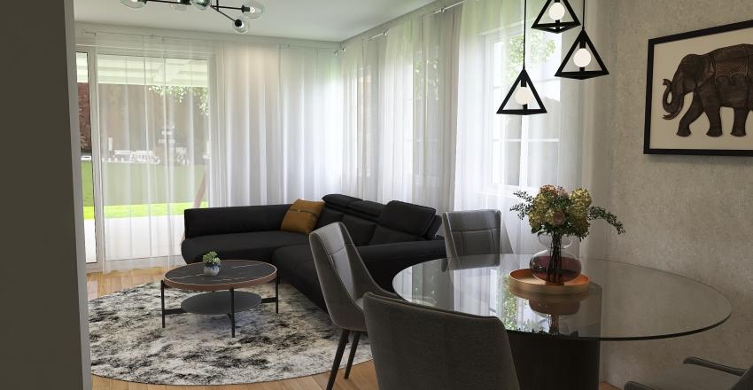 dom z poddaszem Interior Design Render