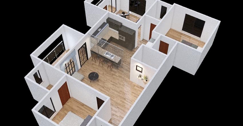 Nashik Flat Interior Design Render