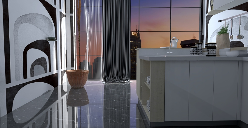 Memphis Design Interior Design Render