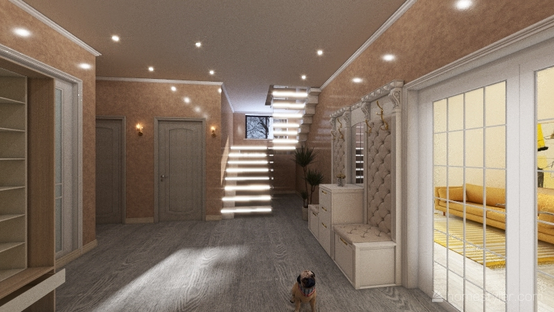 дом частный  Interior Design Render