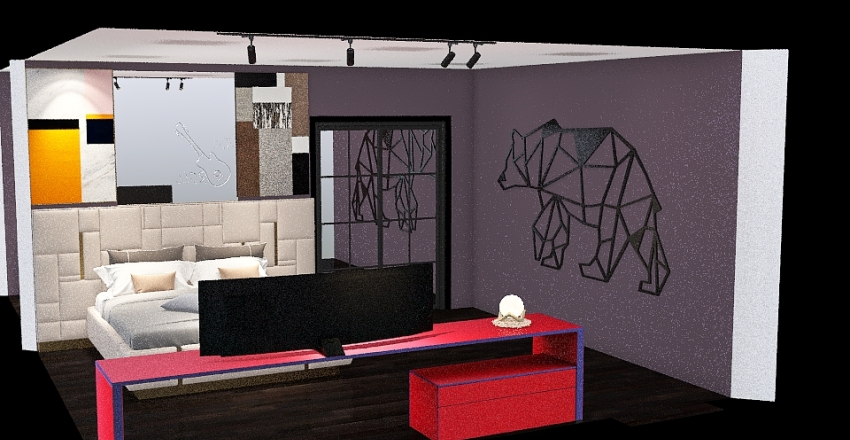 Aksel Aburto dream bedroom Interior Design Render