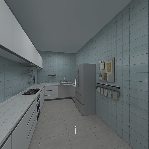 Rainbow apartments Interior Design Render