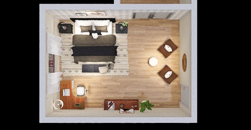 Nolan Michaud's bedroom assignment Interior Design Render