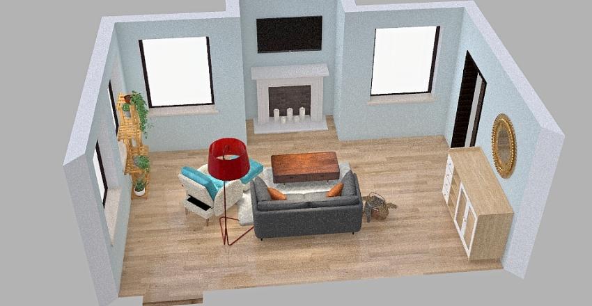Single Living Room Interior Design Render