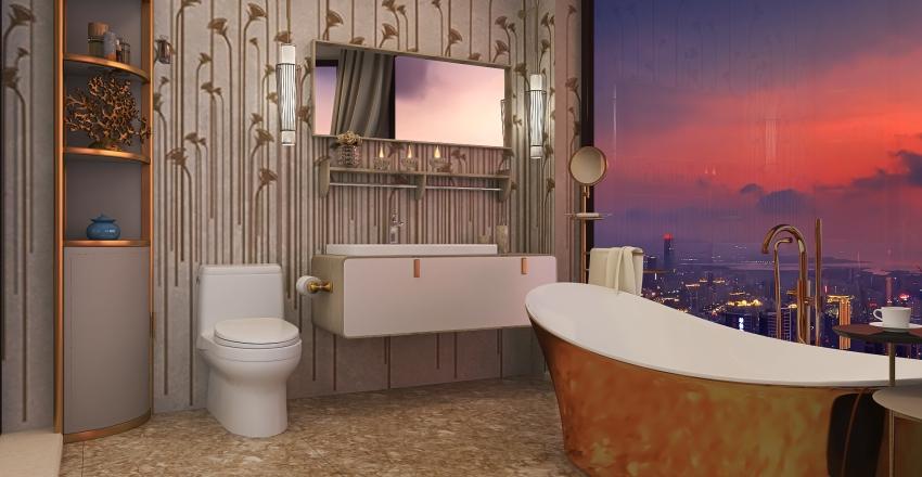 Greta's New Concrete Home Interior Design Render