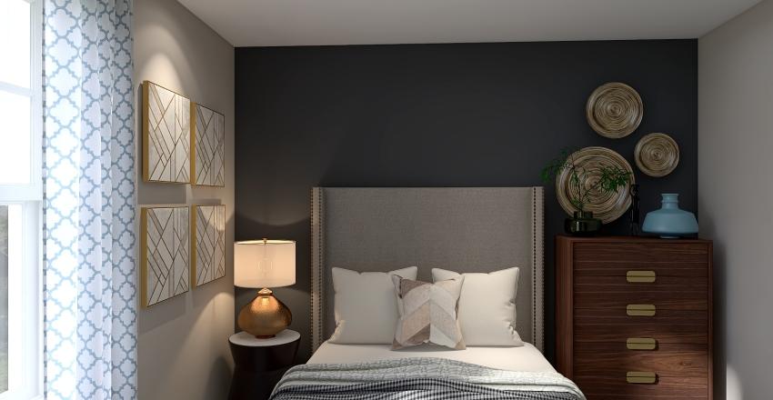 Marlon's Guest Room OPT1 Interior Design Render