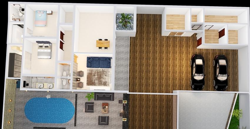 REFORMA COM CORREDOR MEDIDA CORRETA_copy Interior Design Render