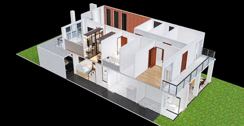Copy of Brazilian house Interior Design Render