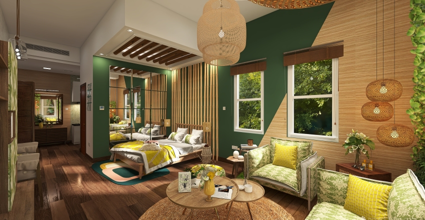 Tropical style - Nature within reach Interior Design Render