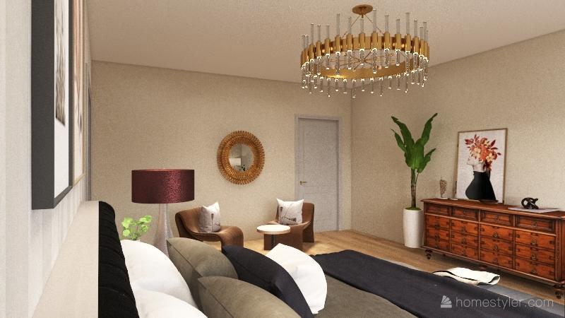 Nolan's bedroom assignment Interior Design Render