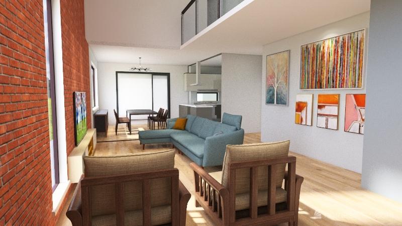 Brazilian house Interior Design Render