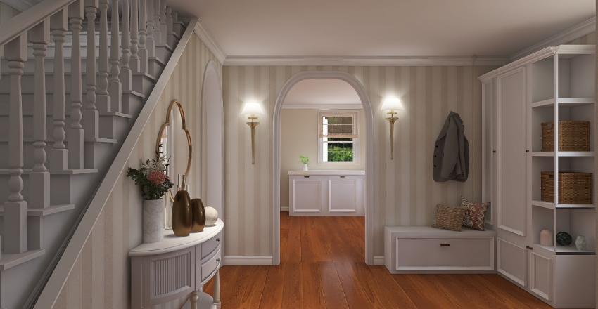colonial mixed options extension Interior Design Render