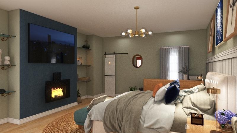 McCracken- Bedroom Floorplan Interior Design Render