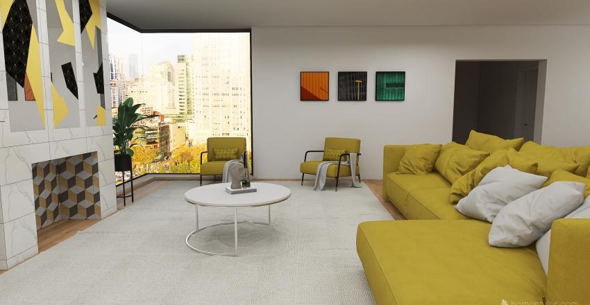 Large Apartment  Interior Design Render