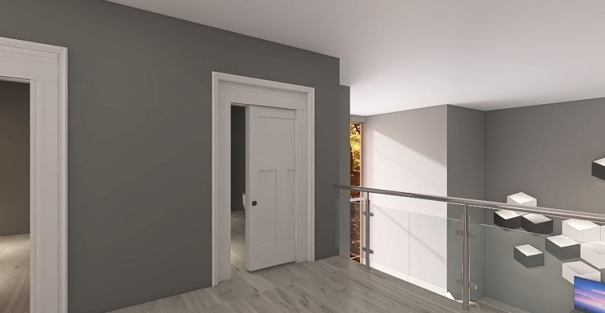 Modern House with Loft Interior Design Render