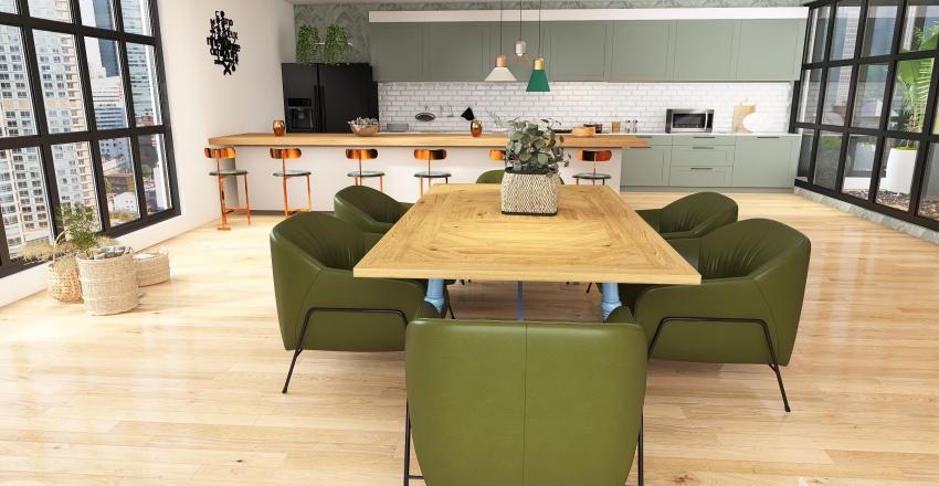 appartement avec patio Interior Design Render